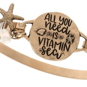 """Jewelry - """"All you need is Vitamin Sea"""" etched bracelet"""